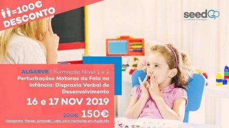Formação Perturbações Motoras da Fala na Infância: Dispraxia Verbal de Desenvolvimento - Nível 1 e 2 - ALGARVE