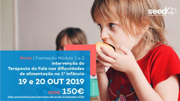 Formação Intervenção do Terapeuta da Fala nas dificuldades de alimentação em idade pediátrica